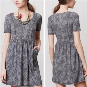 Anthro Saturday Sunday Floral Jacquard Day Dress